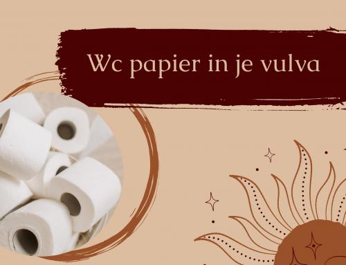Wc papier in je vulva